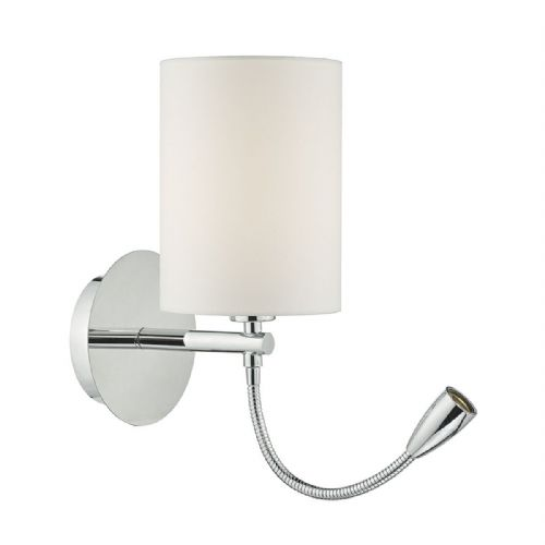Feta 1 Light Wall Bracket With Led Polished Chrome Base Only